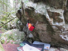 Rock Climbing Photo: Greg B making the move up to a slot/tooth