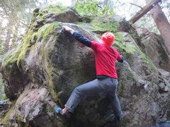 Rock Climbing Photo: Greg B. trying to get around the corner