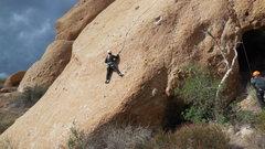 "Rock Climbing Photo: Enjoying the fine holds on ""She Thinks My Tra..."
