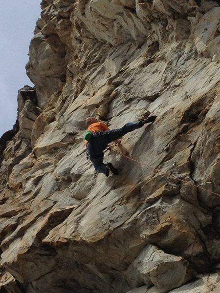 Rock Climbing Photo: Seth Tart on the FA of 'Hand of God'.