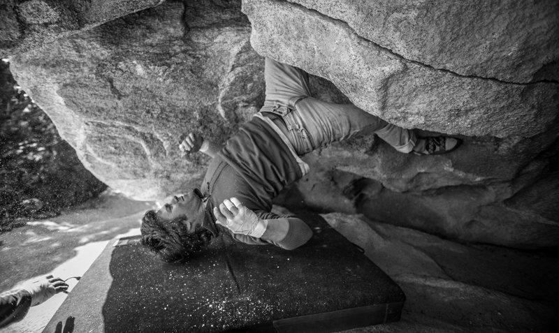 Rock Climbing Photo: head dab