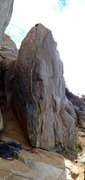 Rock Climbing Photo: Straight up arete with hands on both sides