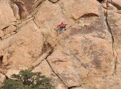 Rock Climbing Photo: Getting into the crux, LA Woman 5.11a ****  photo ...