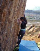 Rock Climbing Photo: Razor crimps... Jackie Trejo.