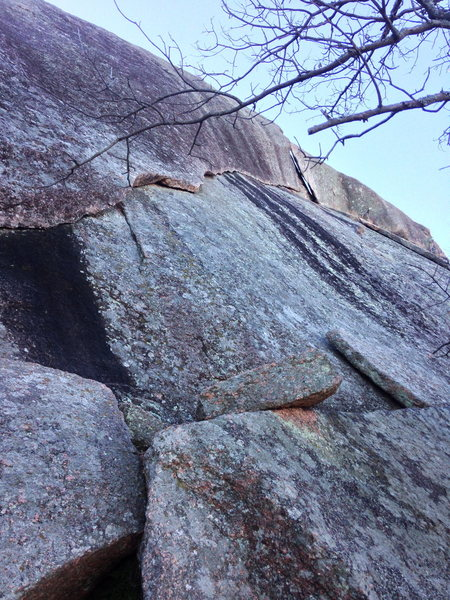 Rock Climbing Photo: Chunky Tuna follows the horizontal crack up to the...