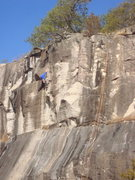 Rock Climbing Photo: Climber on Bullistics. Route to the left is Ain't ...