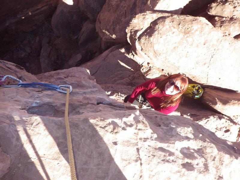 Rock Climbing Photo: sandy workin it