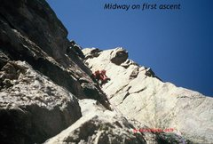 Rock Climbing Photo: The leader may be about where SamP took his downwa...