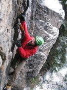 "Rock Climbing Photo: Ryan Bogus getting it done on ""Furry Thang&qu..."