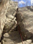 Rock Climbing Photo: Center Crack, 5.8