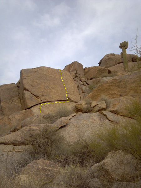 Rock Climbing Photo: View from our approach from the Southwest.