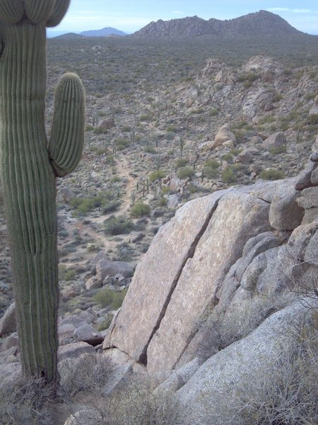 Rock Climbing Photo: View from above. Granite Mountain Loop trail visib...