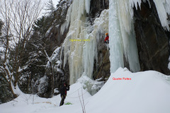 Rock Climbing Photo: Party leading Quatre Pattes with Ogresse (Le Jedi)...