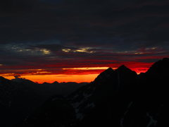 Rock Climbing Photo: View from top of Pyramid Peak at around 2AM on the...