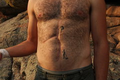 Rock Climbing Photo: Climbing tattoo/scar.