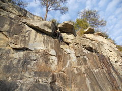 Rock Climbing Photo: Original, uncleaned version of Hang Time. The name...