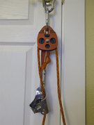 "Rock Climbing Photo: The pulley is a CMI with a 2 5/8"" sheave."