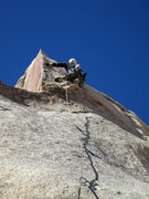 Rock Climbing Photo: Kazu getting ready to start the fun small lieback ...
