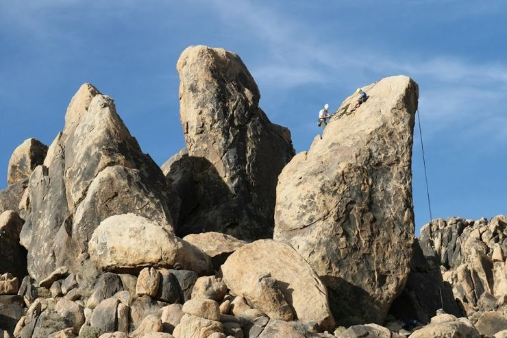 Rock Climbing Photo: Team Kosmal pushing for the summit on the Leaning ...