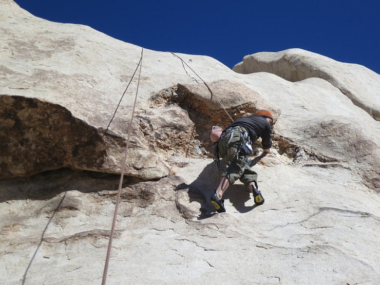 Kazu on Fool's Cold. Go right around the quartz cave up to first bolt.