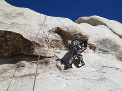 Rock Climbing Photo: Kazu on Fool's Cold. Go right around the quartz ca...
