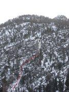 Rock Climbing Photo: Climb as viewed on the approach.