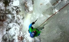 Rock Climbing Photo: Green Pillar, Darkside, Catskills 1/2014