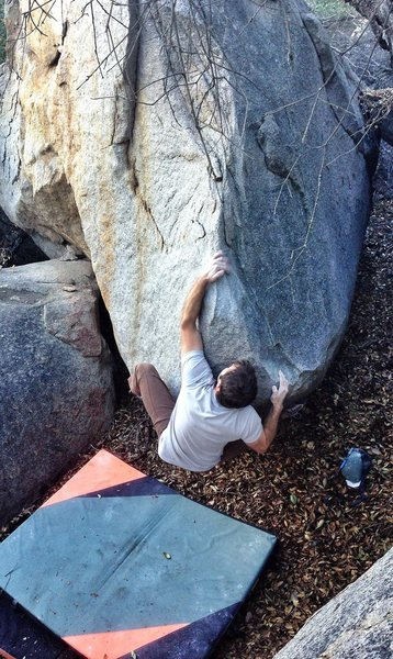Rock Climbing Photo: Forever on the Hips climbs this short prow up then...