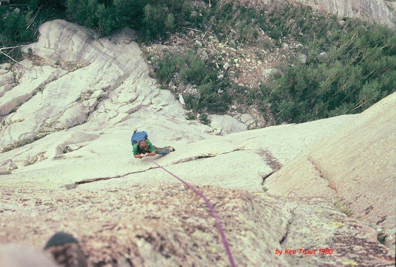 Rock Climbing Photo: Mark Leonard jumars the fixed ropes on summit day.