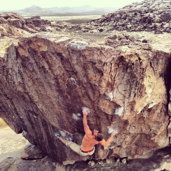 Rock Climbing Photo: Me on Babyface V7 in Hueco