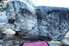 Rock Climbing Photo: Aspen Boulder West Face Topo