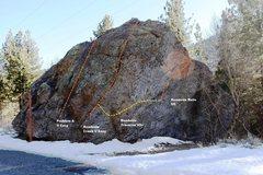 Rock Climbing Photo: North West Topo