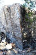 Rock Climbing Photo: Nate's Arete Topo
