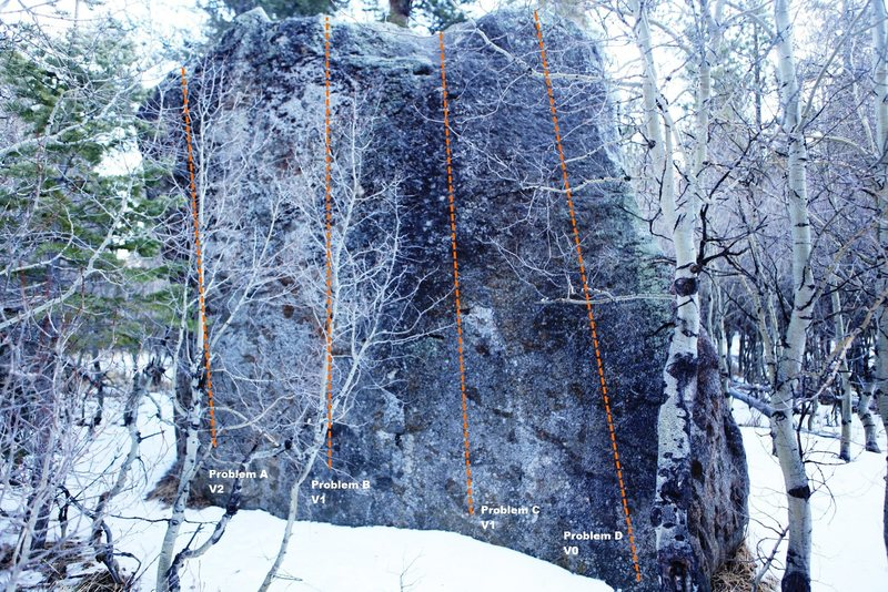 North East Face Topo