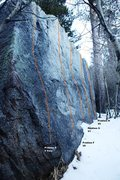 Rock Climbing Photo: North West Face Topo