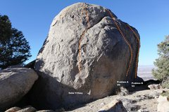 Rock Climbing Photo: Granitic Boulder - South East Topo