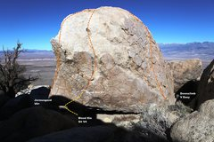 Rock Climbing Photo: South East face Topo