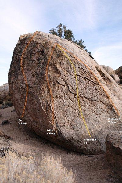 Rock Climbing Photo: West Face Topo