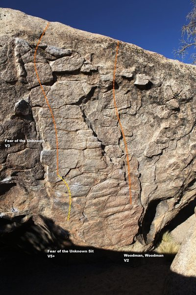 Rock Climbing Photo: South face right topo