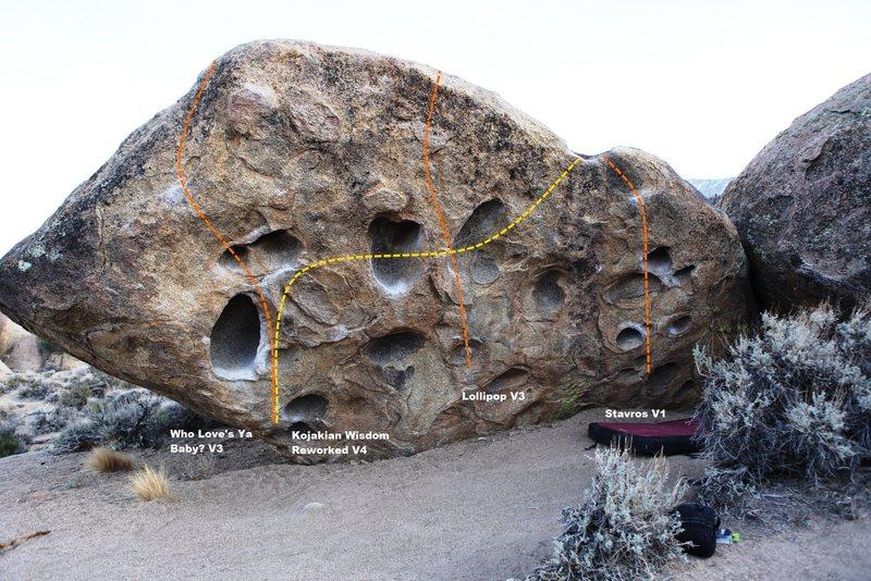 Kojak Boulder Topo