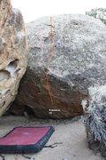 Rock Climbing Photo: Kojak Boulder Right Topo