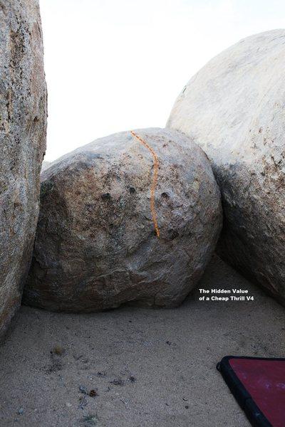 Rock Climbing Photo: South Alchove Topo