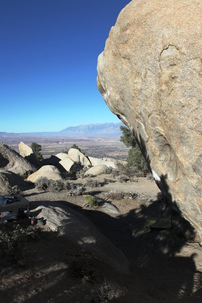 Rock Climbing Photo: Arch Drude face in profile looking north