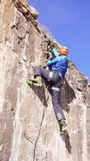 Rock Climbing Photo: Frozen turf on top makes up for easy anchor clippi...