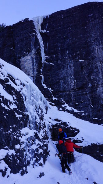 Rock Climbing Photo: The route in winter '13/'14 presented much more ic...