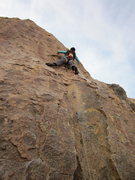 Rock Climbing Photo: Susan leading