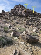 Rock Climbing Photo: Approach trail to Jabba and the surrounding routes...
