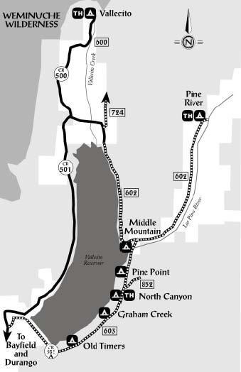 Vallecito area map.