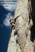 Rock Climbing Photo: Pitch four.