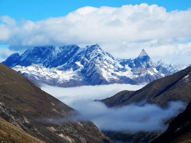 Mountains in Sichuan.